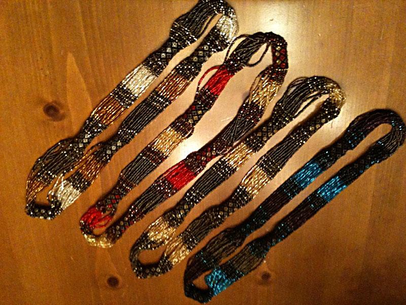 Multicolor Zulu necklaces